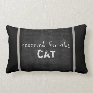 os amantes do gato citam cinzas e branco do humor almofada lombar