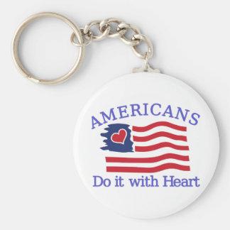 Os americanos fazem-no com coração chaveiro