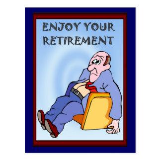 Os amigos do negócio, apreciam sua aposentadoria cartão postal