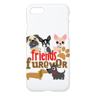 Os amigos Furever perseguem filhotes de cachorro Capa iPhone 8/7