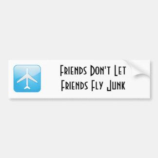 Os amigos não deixam amigos voar a sucata adesivo para carro