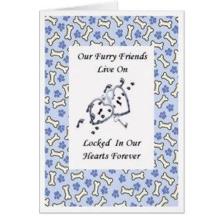 Os amigos peludos vivem em fechado em nosso cartão