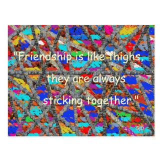 Os amigos são como o cartão das coxas cartão postal