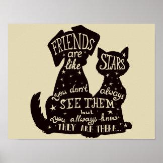 """Os """"amigos são como poster lindo das citações das"""