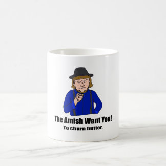 Os Amish querem-no agredir Caneca De Café