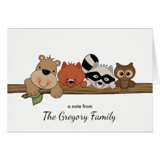 Os animais da floresta agradecem-lhe │ do cartão