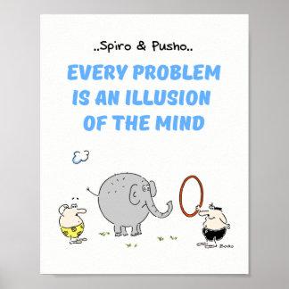 Os animais de Spiro & de Pusho citam o poster 8x10 Pôster