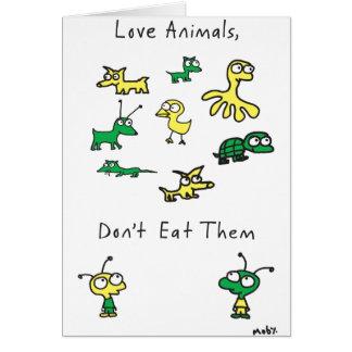 Os animais do amor de Moby, não os comem cartão
