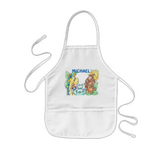 Os animais do bebê personalizaram o avental do