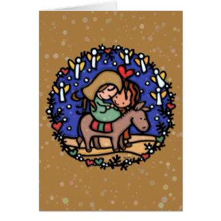 Os anjos cantaram em seu nascimento. Jesus.CAMEL Cartão