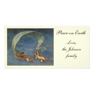 Os anjos detalham de Adonis conduziram por Cupido Cartão Com Foto