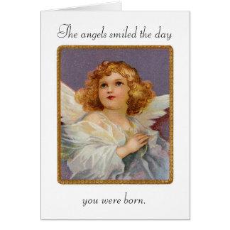 Os anjos do aniversário sorriram cartão
