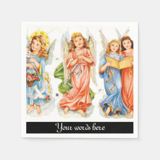 Os anjos do vintage adicionam os guardanapo de