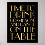 os anos 20 cronometram para beber o ouro do poster