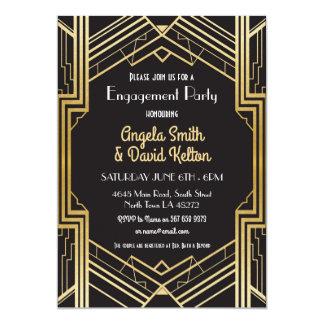 Os anos 20 de Gatsby dos convites do noivado do