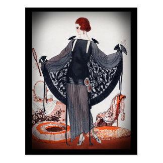 Os anos 20 rujir da diva do Fashionista Cartão Postal