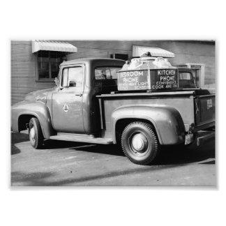 Os anos 50 Dyersburg Jackson T do caminhão do anún Impressão De Foto