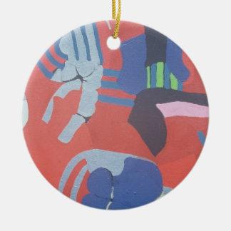 os anos 60 que pintam #2 ornamento de cerâmica redondo