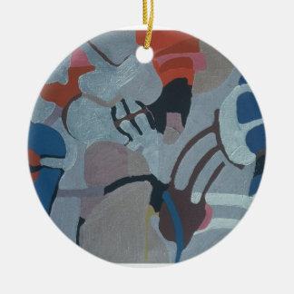os anos 60 que pintam #3 ornamento de cerâmica redondo