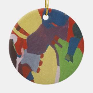 os anos 60 que pintam #4 ornamento de cerâmica redondo