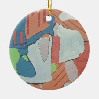 os anos 60 que pintam #5 ornamento de cerâmica redondo