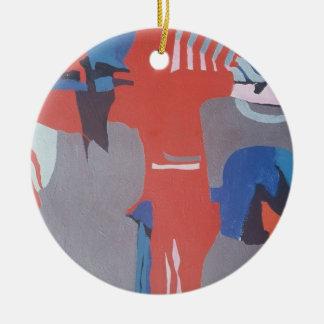os anos 60 que pintam #6 ornamento de cerâmica redondo