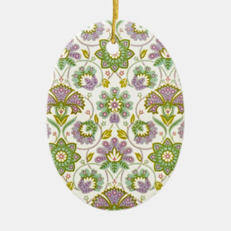 Os anos 60 retros do vintage ornamento de cerâmica oval