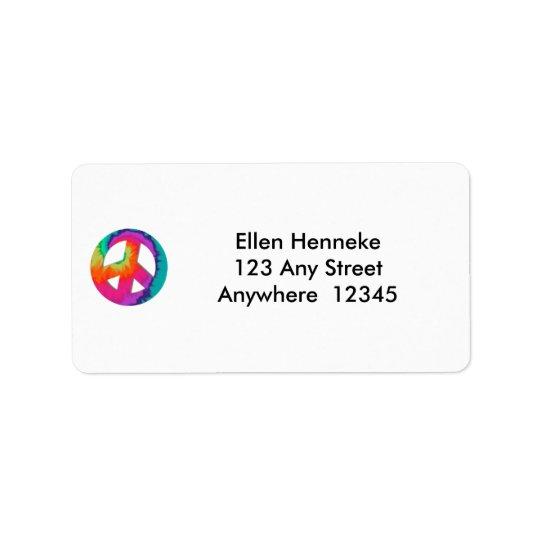 Os anos 70 etiqueta de endereço