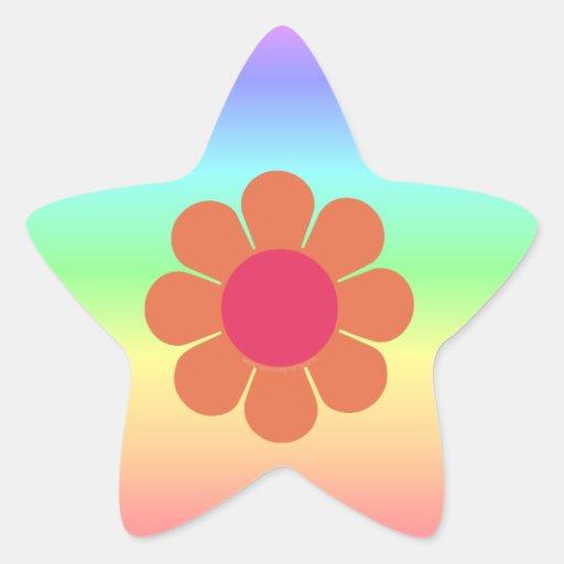 os anos 70 flower power adesivos