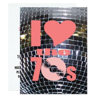 Os anos 70 retros do dance party de disco   Party Convite 10.79 X 13.97cm