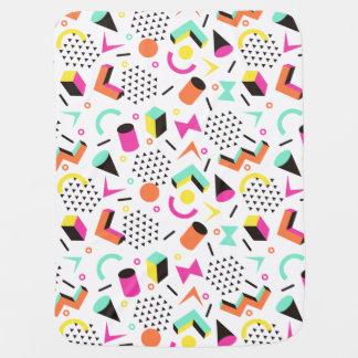 Os anos 80 corajosos Squiggly geométricos lisos do Cobertores De Bebe