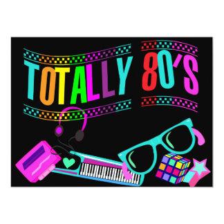 Os anos 80 totalmente impressionantes convidam convite