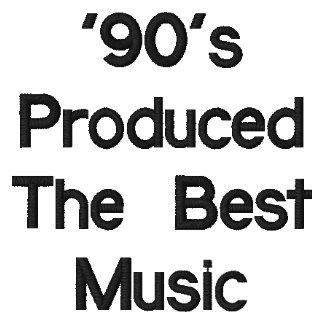 'os anos 90 camiseta bordada polo