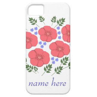 Os anos setenta retros design floral, nome, capas capa barely there para iPhone 5