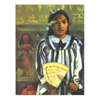Os antepassados de Tehamana - Paul Gauguin Cartão Postal