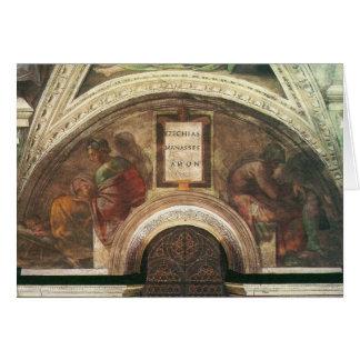 Os antepassados do cristo por Michelangelo Cartoes