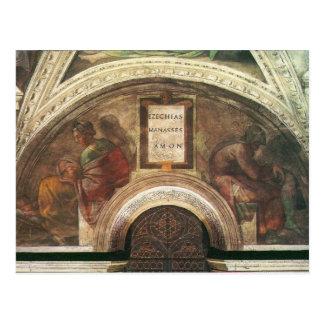 Os antepassados do cristo por Michelangelo Cartões Postais