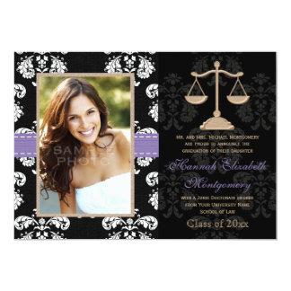 Os anúncios da graduação da escola de direito convite