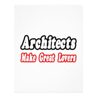 Os arquitetos fazem grandes amantes panfleto