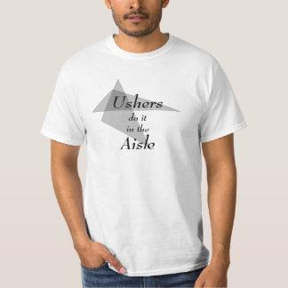 Os arrumadores fazem-no no corredor engraçado camiseta