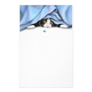 Os artigos de papelaria do gato do caçador do inse