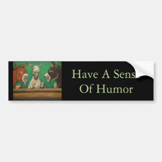 Os asnos de riso adesivo de para-choque