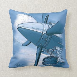 Os aviões do vintage de Turbo descansam o azul Almofada