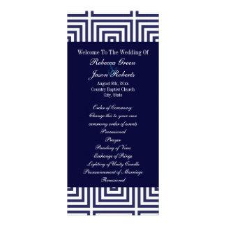 Os azuis marinhos ancoram programas náuticos do ca 10.16 x 22.86cm panfleto