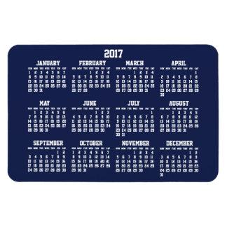 Os azuis marinhos Calendar 2017 grandes ímãs