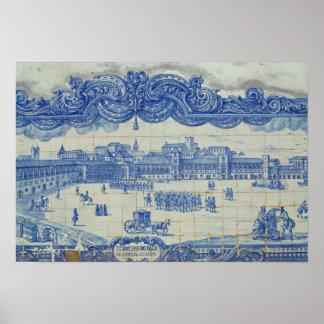Os azulejos de Azulejos que descrevem o Praca faze Pôster