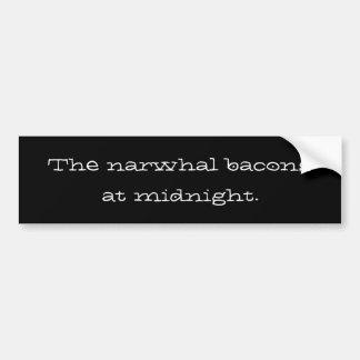 os bacon narwhal na meia-noite adesivos