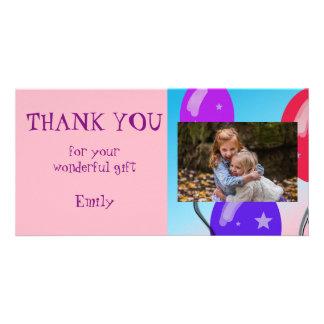 Os balões personalizados agradecem-lhe foto cartão
