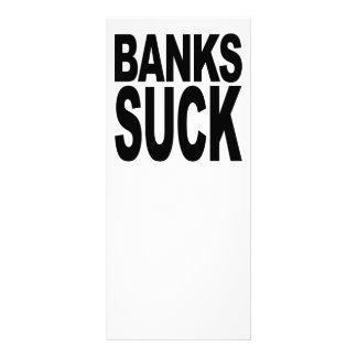 Os bancos sugam 10.16 x 22.86cm panfleto