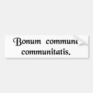 Os bens comuns da comunidade adesivo para carro